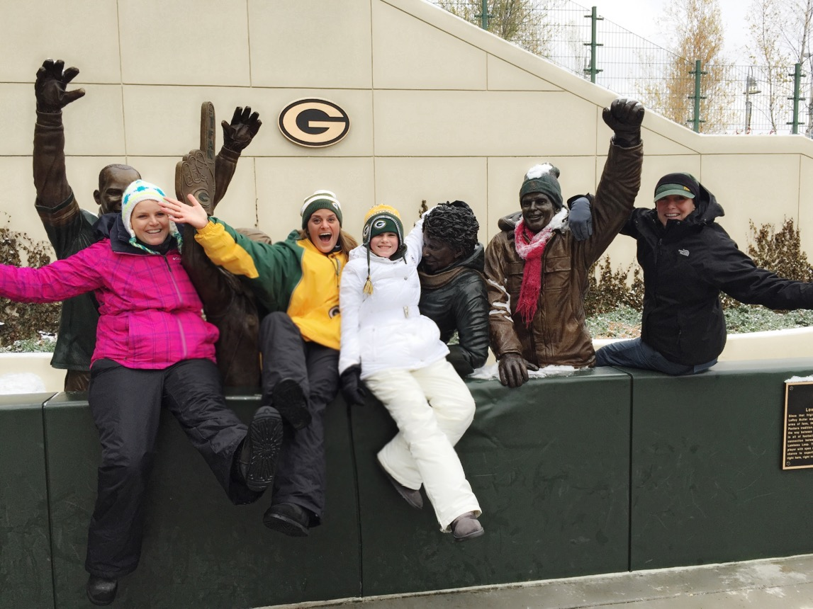 A little pre game fun with my niece, Maddie, and family in Green Bay!