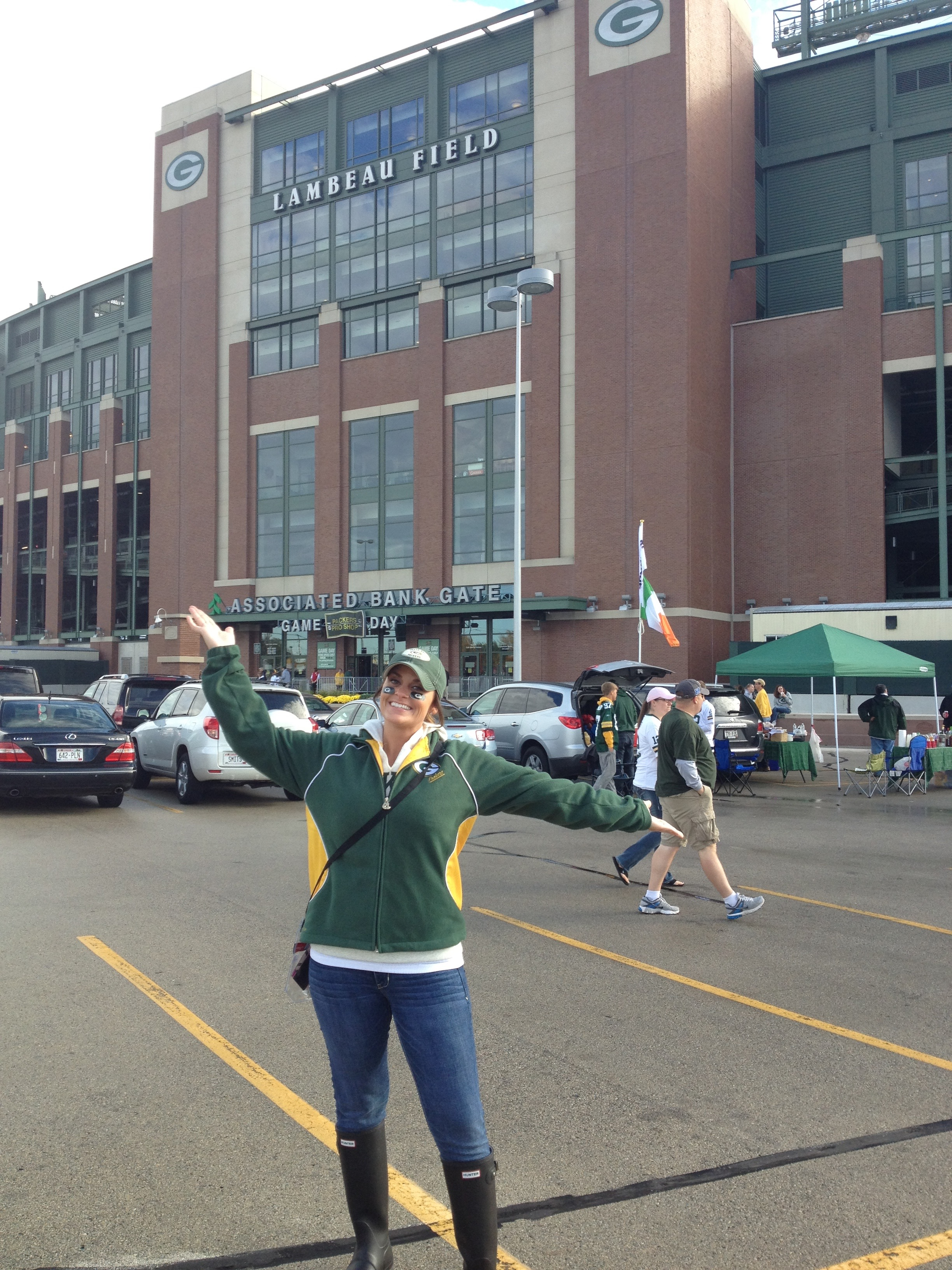 Rain or shine, I love my time up in Green Bay for the Packer games