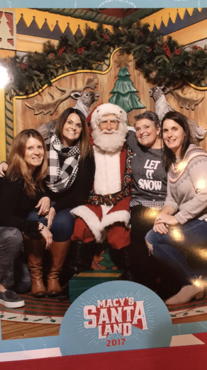 A fun girls weekend in New York City at Christmas time with my mom, sister in law and my best friend. We had to go see Santa at Macy's!