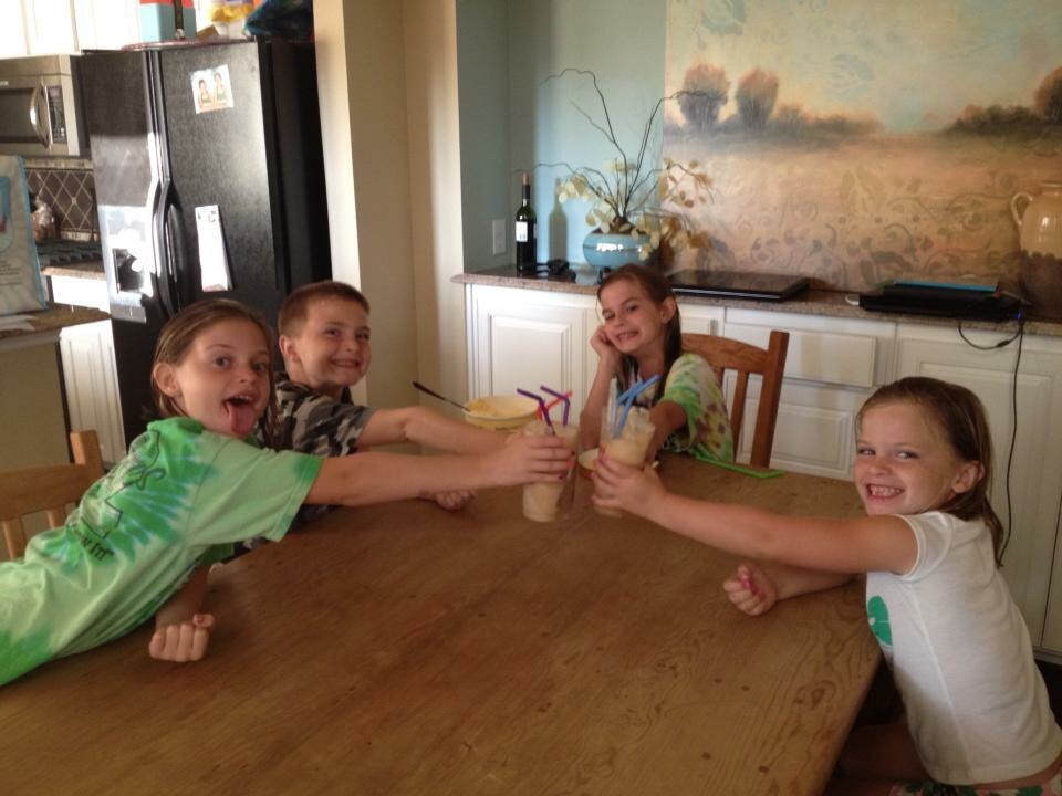 Celebrating the first day of school with root beer floats my nieces and nephews while they shared their favorite part of their day.