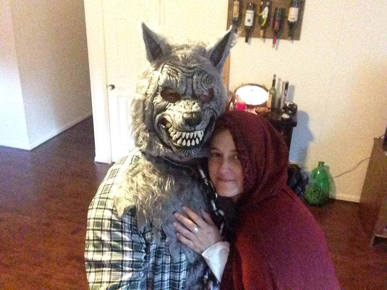 Halloween is one of our favorite holidays.  That's Brandon behind the mask!