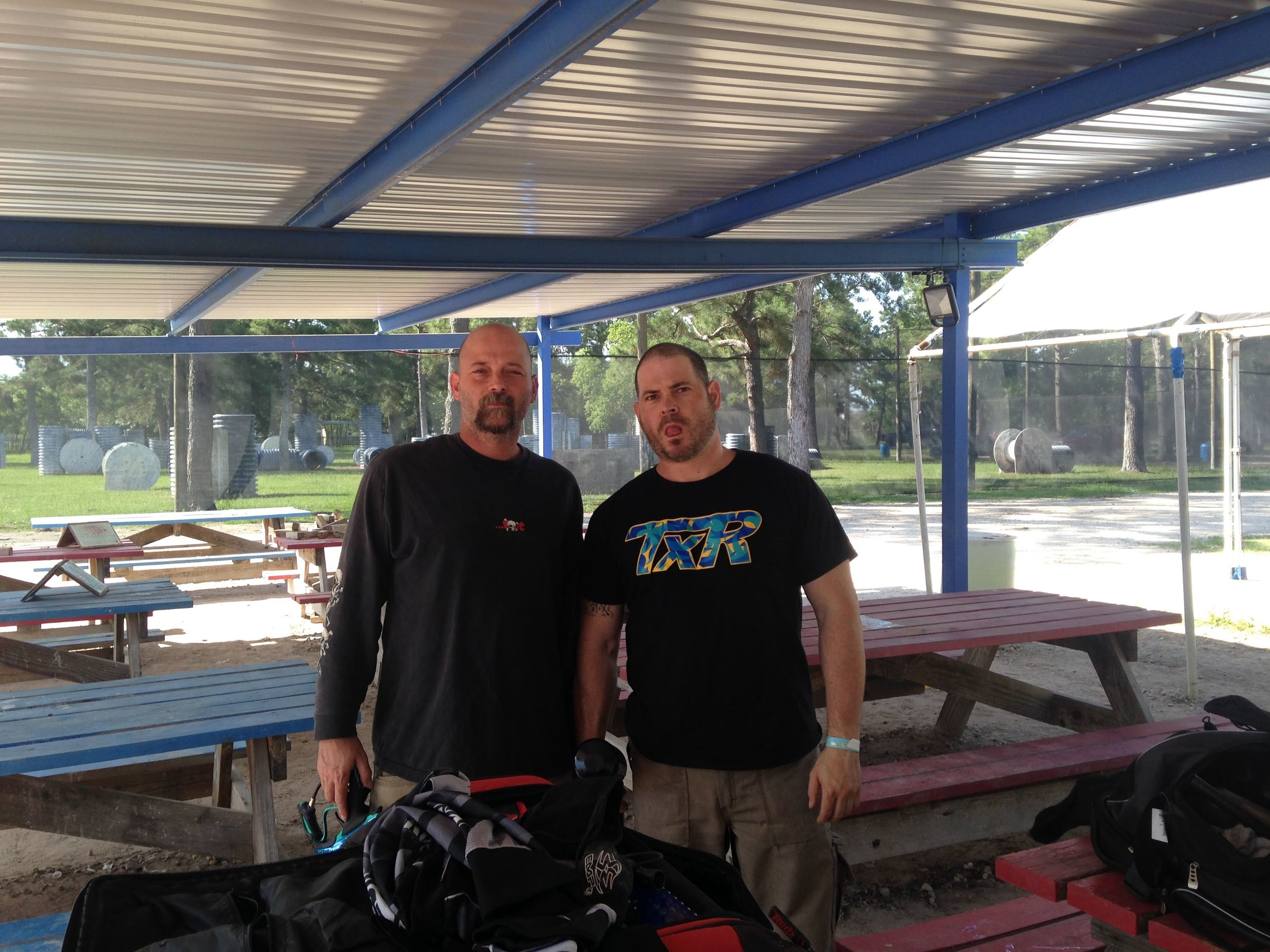 Brandon and his brother Damian have a lot of fun playing paintball.