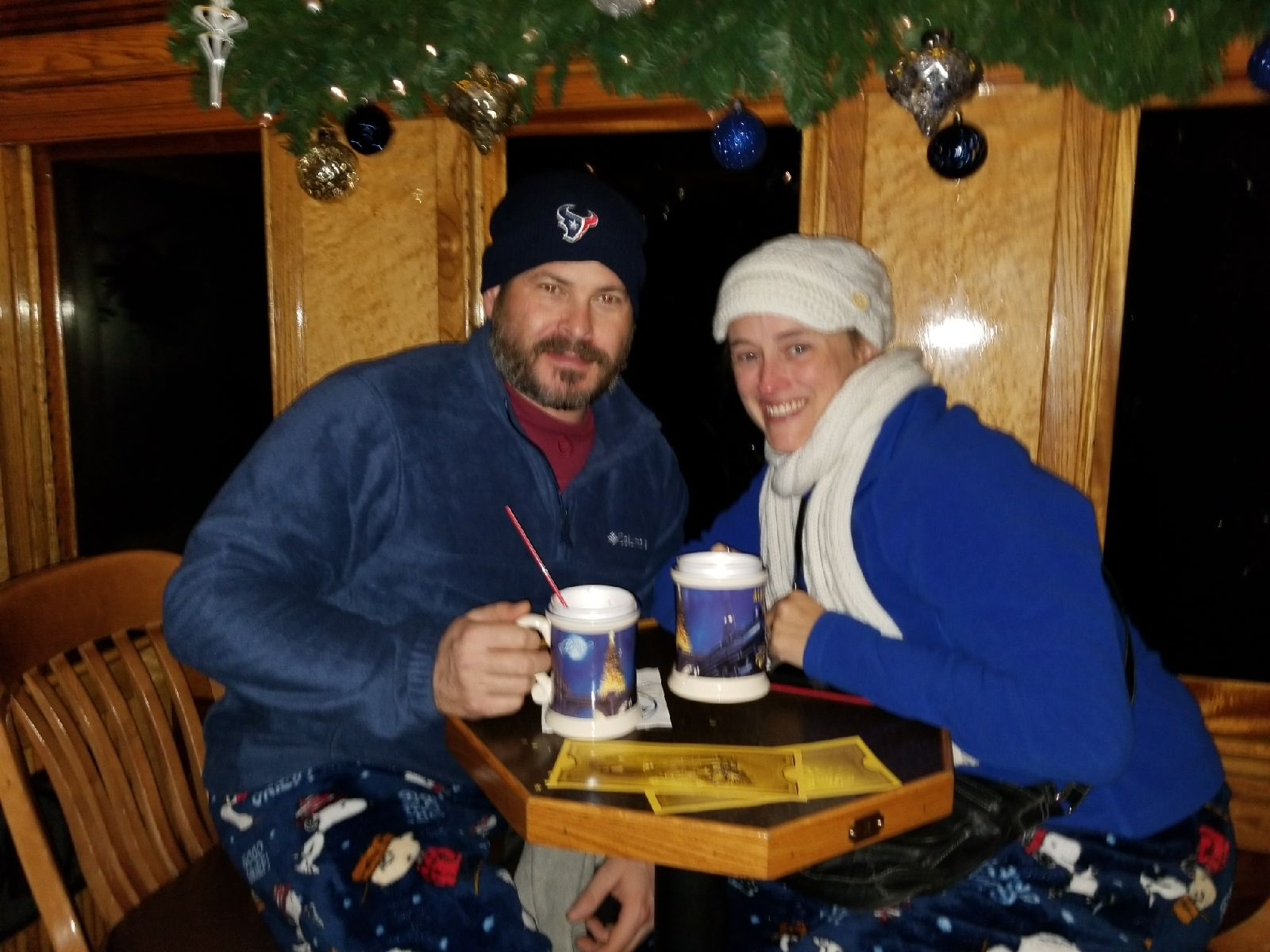 On the Polar Express in Colorado. Hot cocoa and stories by Santa.