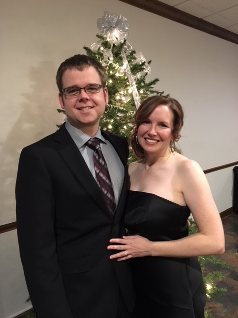 It was fun getting dressed up for a New Year's Eve wedding!
