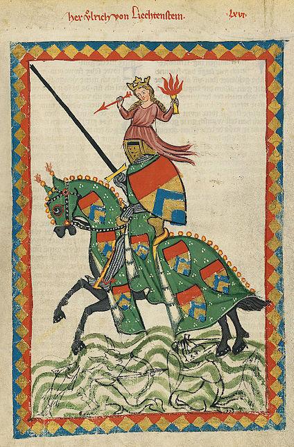 ' von Lichtenstein ' in de Codex Manesse