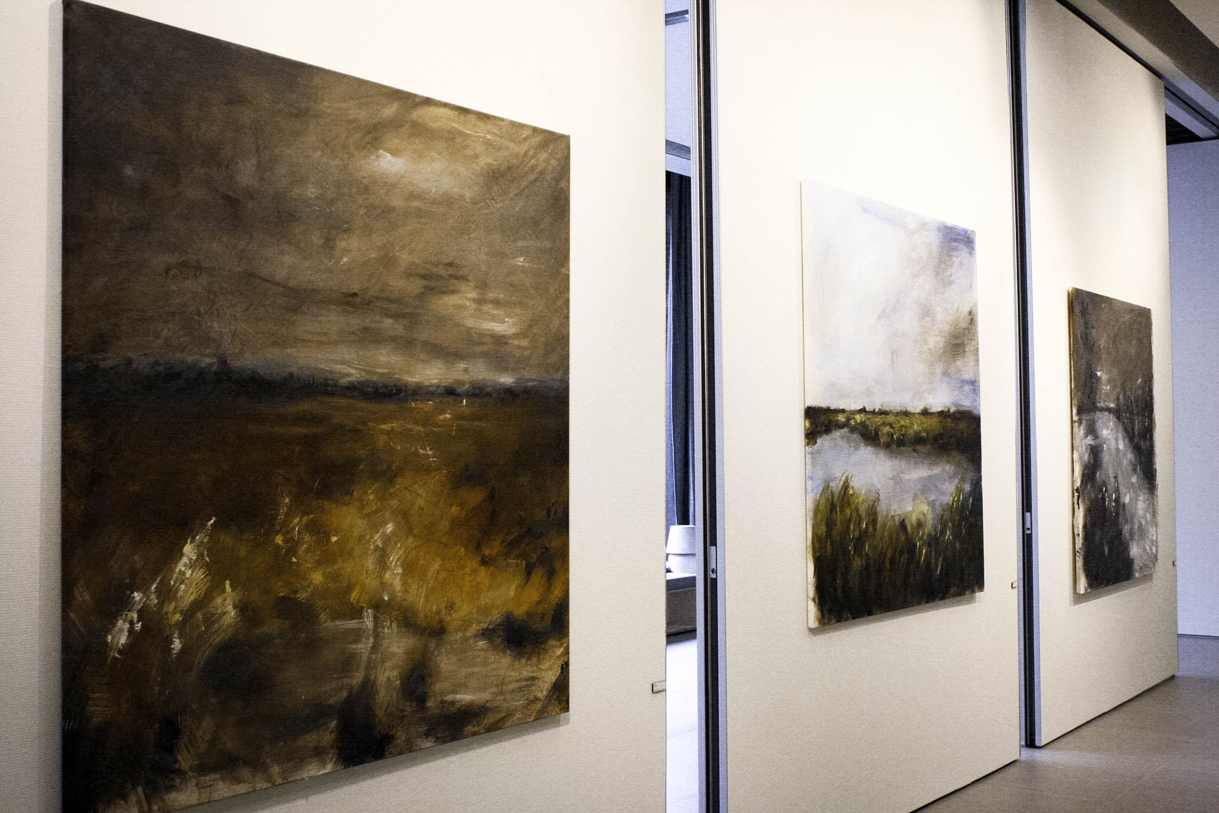 My final works at the art academy. From left to right: Culloden, Muiderslot and Towton.