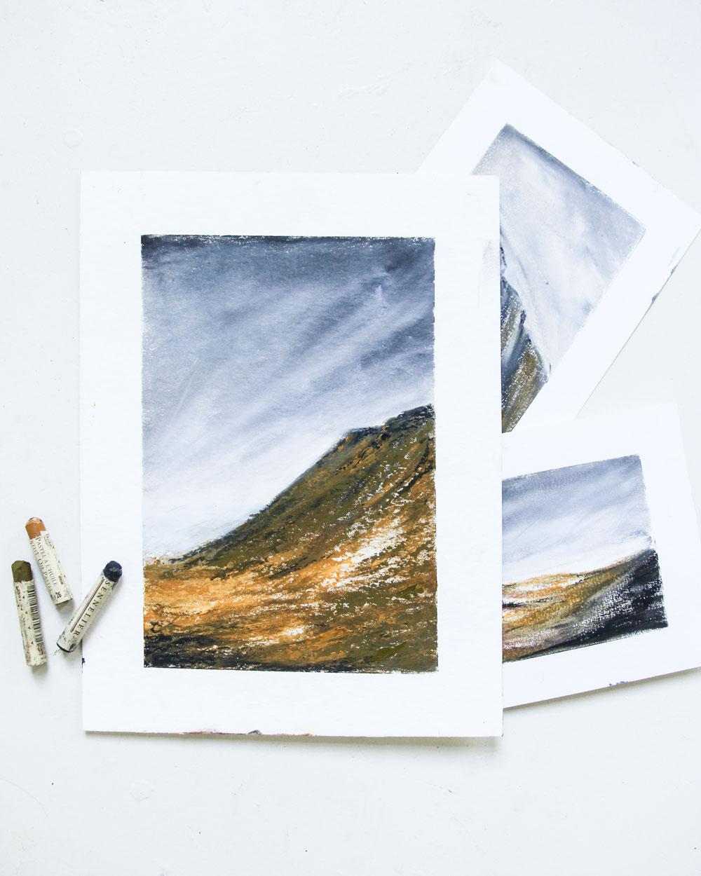 The Four Elements Årvik   16 x 23,5 cm   - sold -
