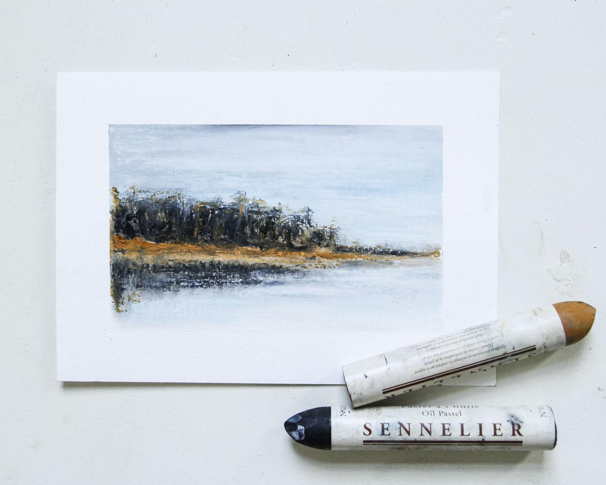 Mirror Lake Drenthe   16 x 9,5 cm   €89