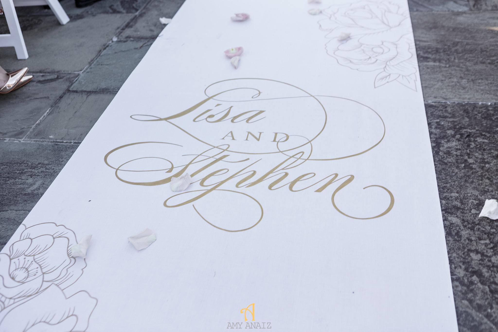 NYIT de Serversky Mansion Wedding, Long Island Wedding, Custom Aisle Runner.JPG