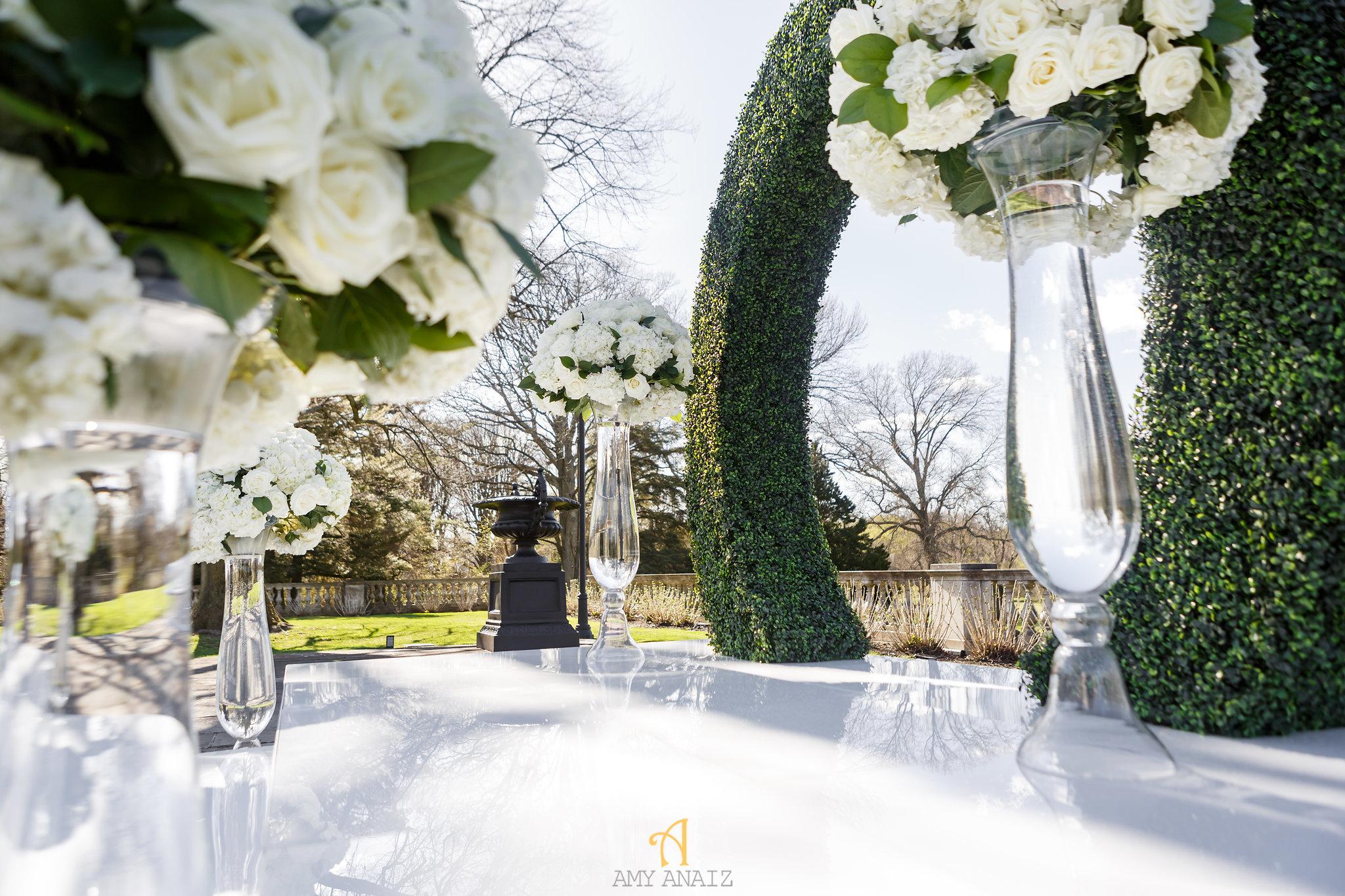 NYIT de Serversky Mansion Wedding, Long Island Wedding Ceremony, Ceremony Flowers, Evolution Rentals.JPG