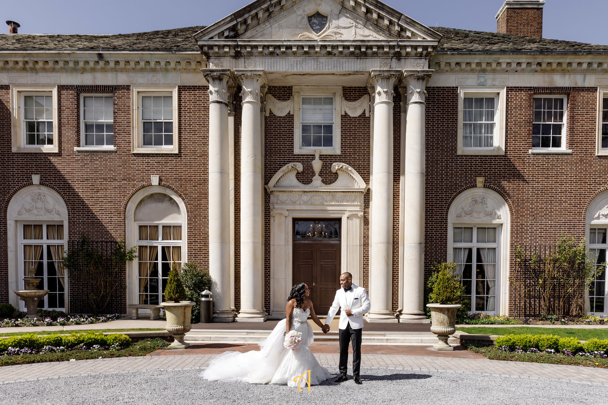 NYIT de Serversky Mansion Wedding, Long Island Wedding, Bride and Groom First Look.JPG