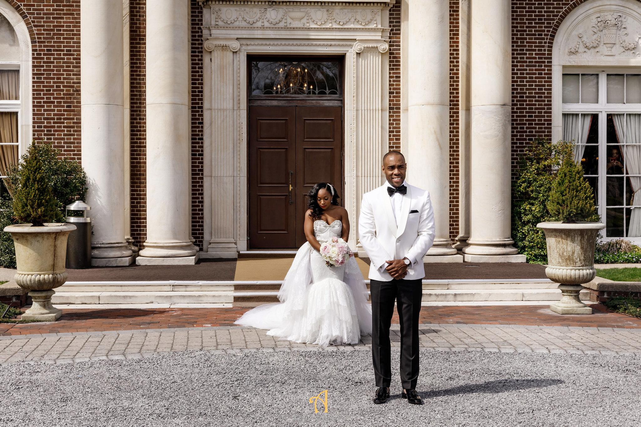 NYIT de Serversky Mansion Wedding, Bridal Gown, Ryan and Walter.JPG