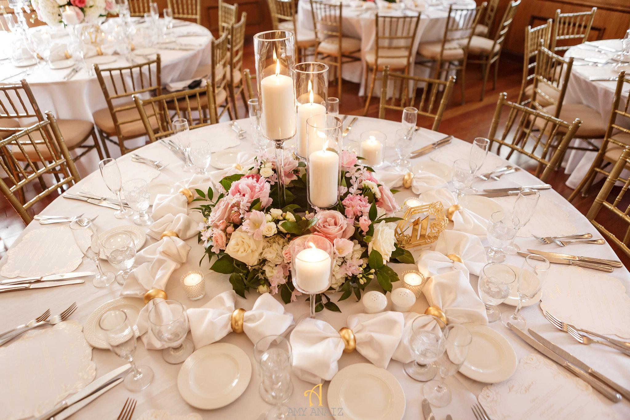 NYIT de Serversky Mansion, Blush Wedding Centerpiece, Candle Centerpiece.JPG