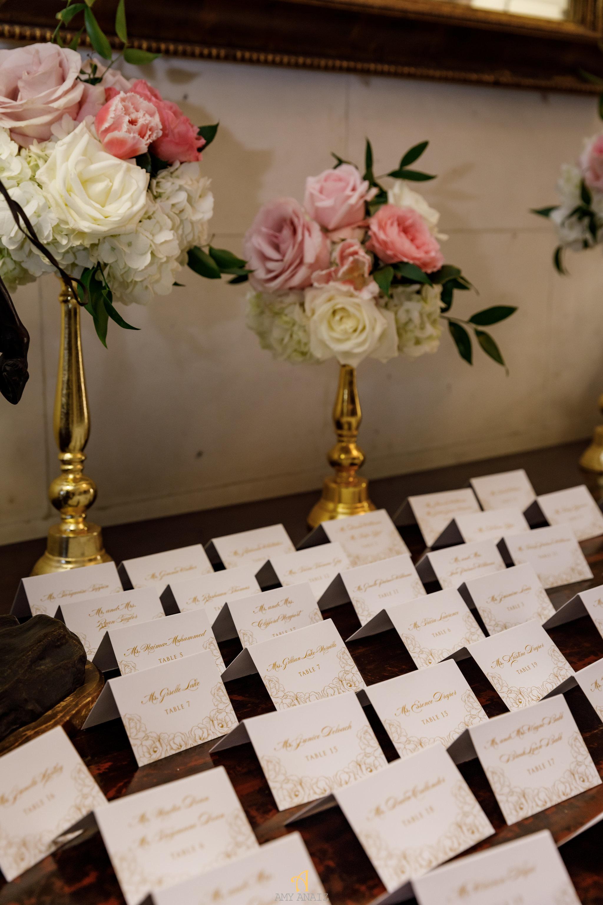 NYIT de Serversky Mansion, Escort Card Table, Wedding Stationery, Long Island Wedding.JPG