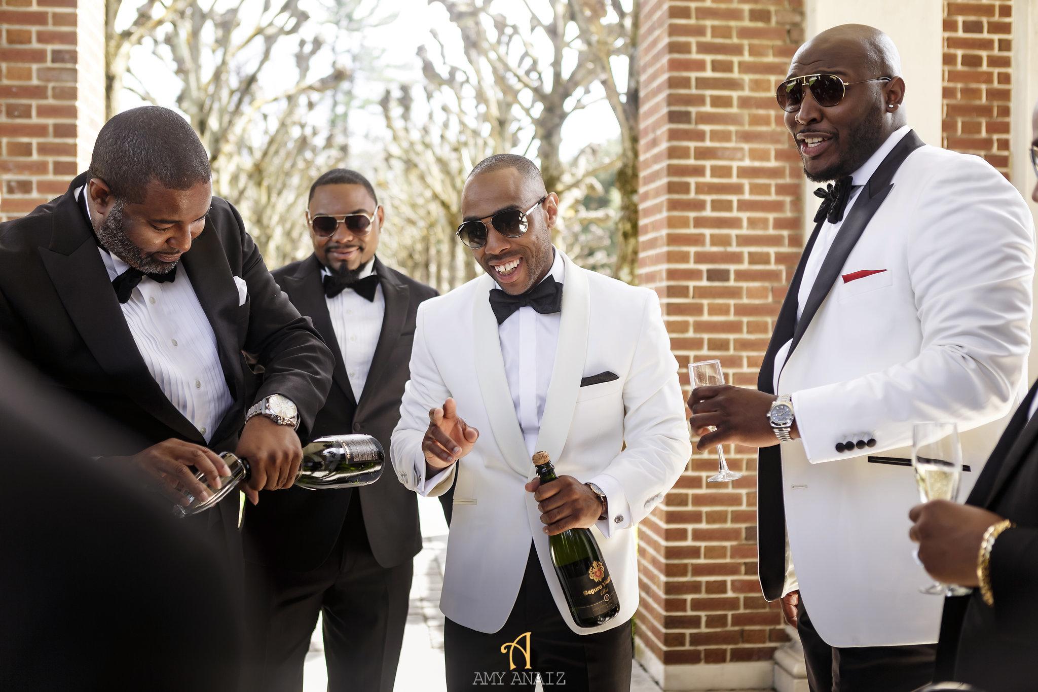 NYIT de Serversky Mansion, Groom and Groomsmen, Long Island Wedding.JPG
