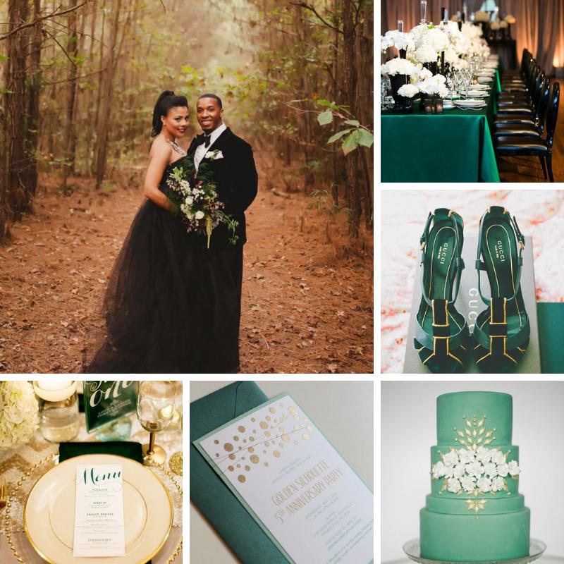 Charcoal, Deep Emerald Light Gold, Seafoam Mist Wedding Color Board.png