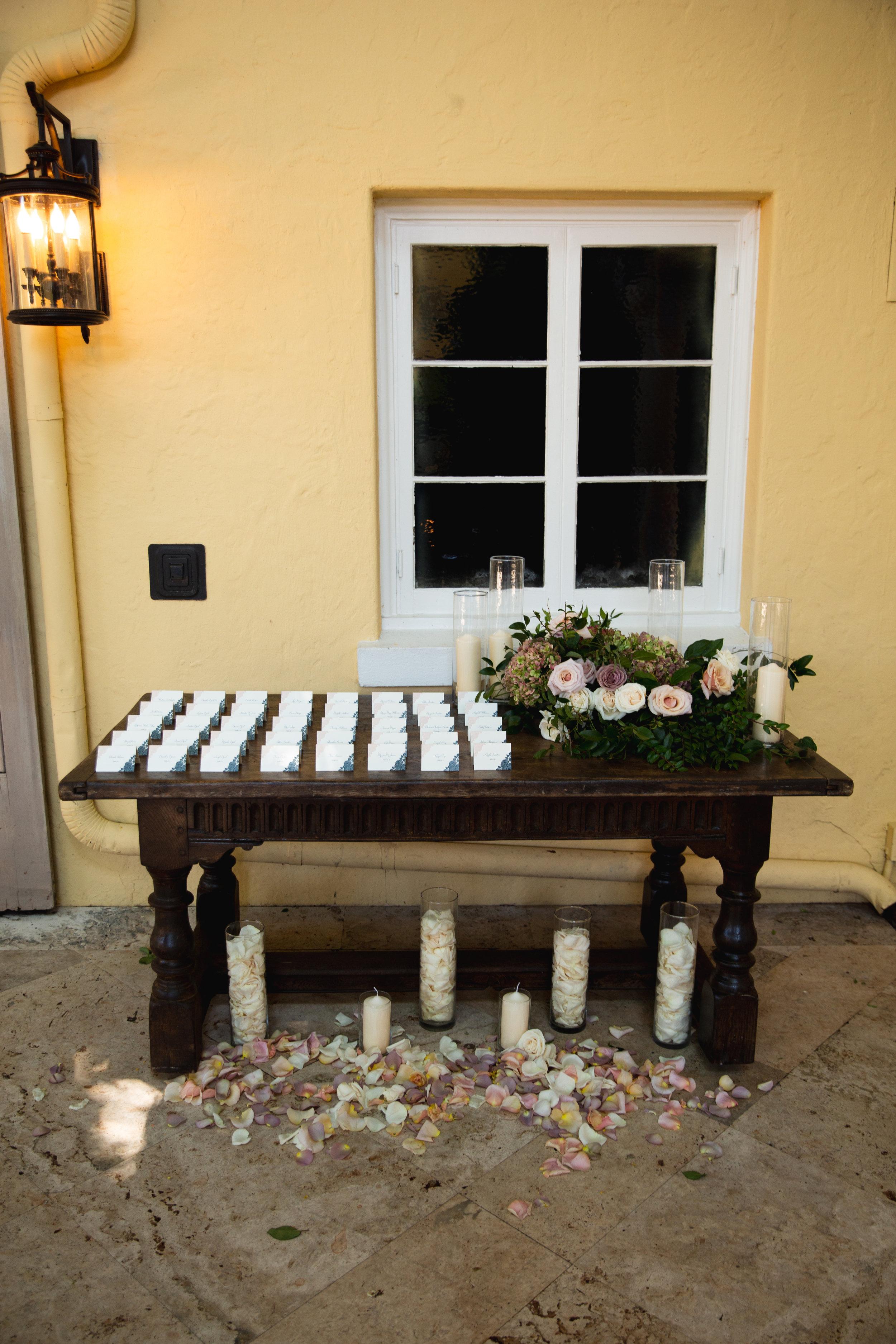 The Addison Boca Raton, South Florida Wedding, Escort Card Table, Garden Style Wedding.jpg