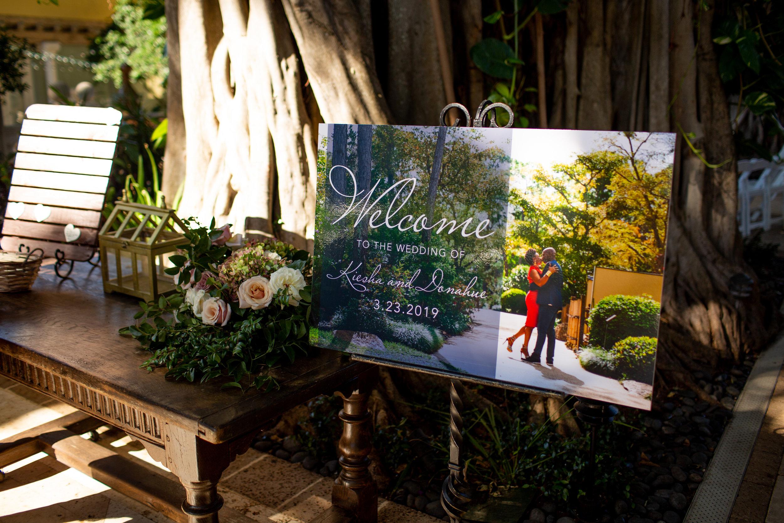 The Addison Boca Raton, South Florida Wedding, Welcome Sign.jpg