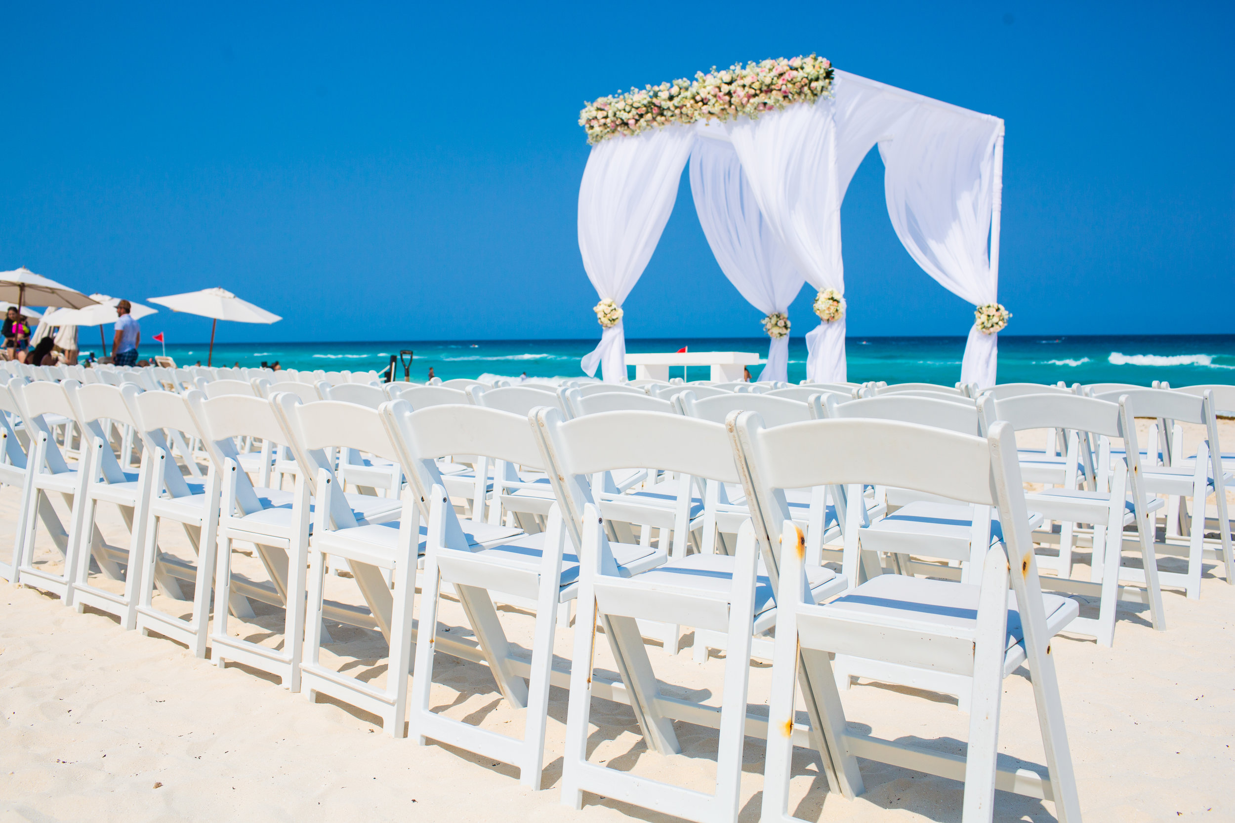 Cancun Destination Wedding, HardRock Hotel, Beach Ceremony Setup.jpg