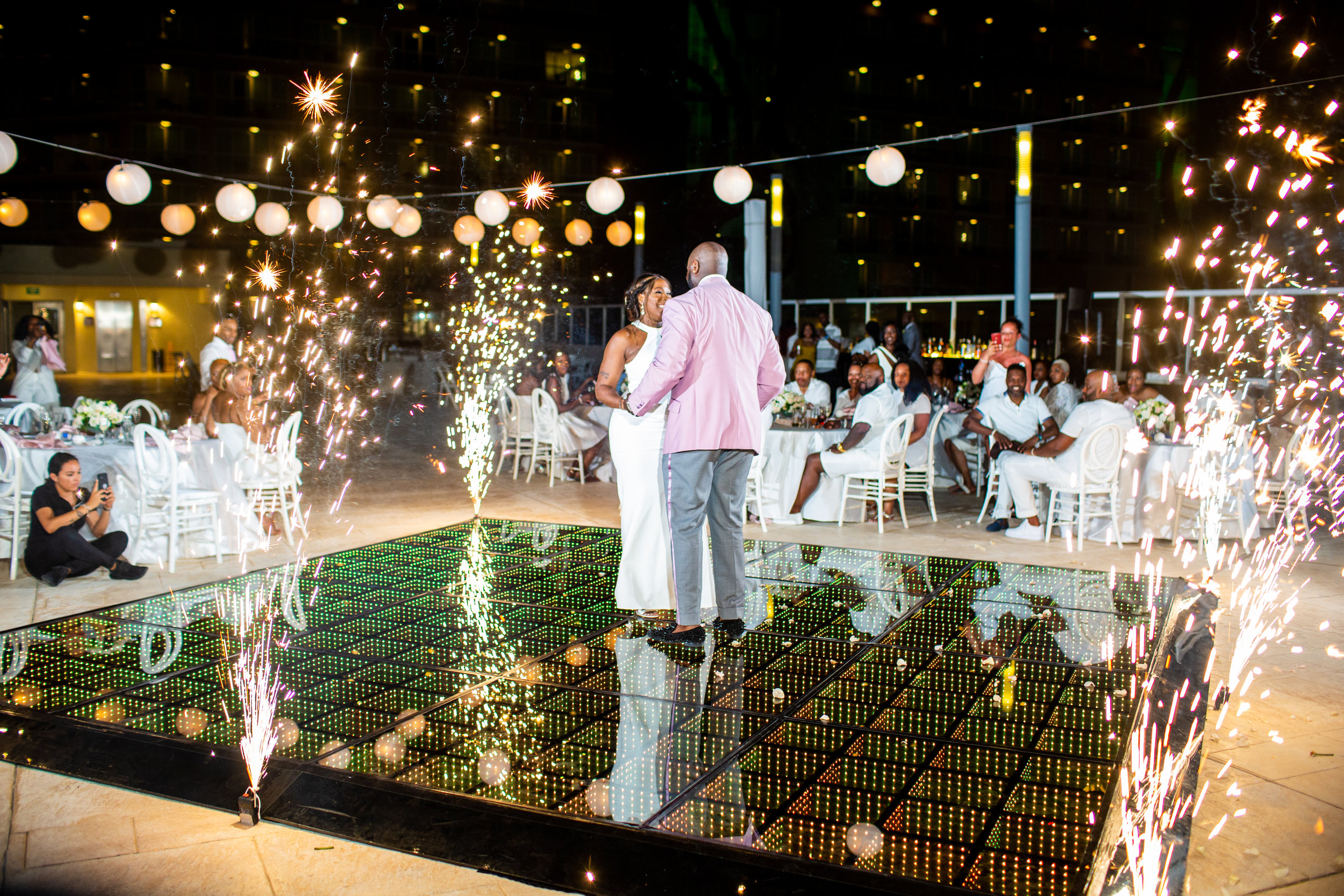 Destination Wedding Cancun, Sunset Wedding Reception, Hard Rock Cancun, First Dance.jpg