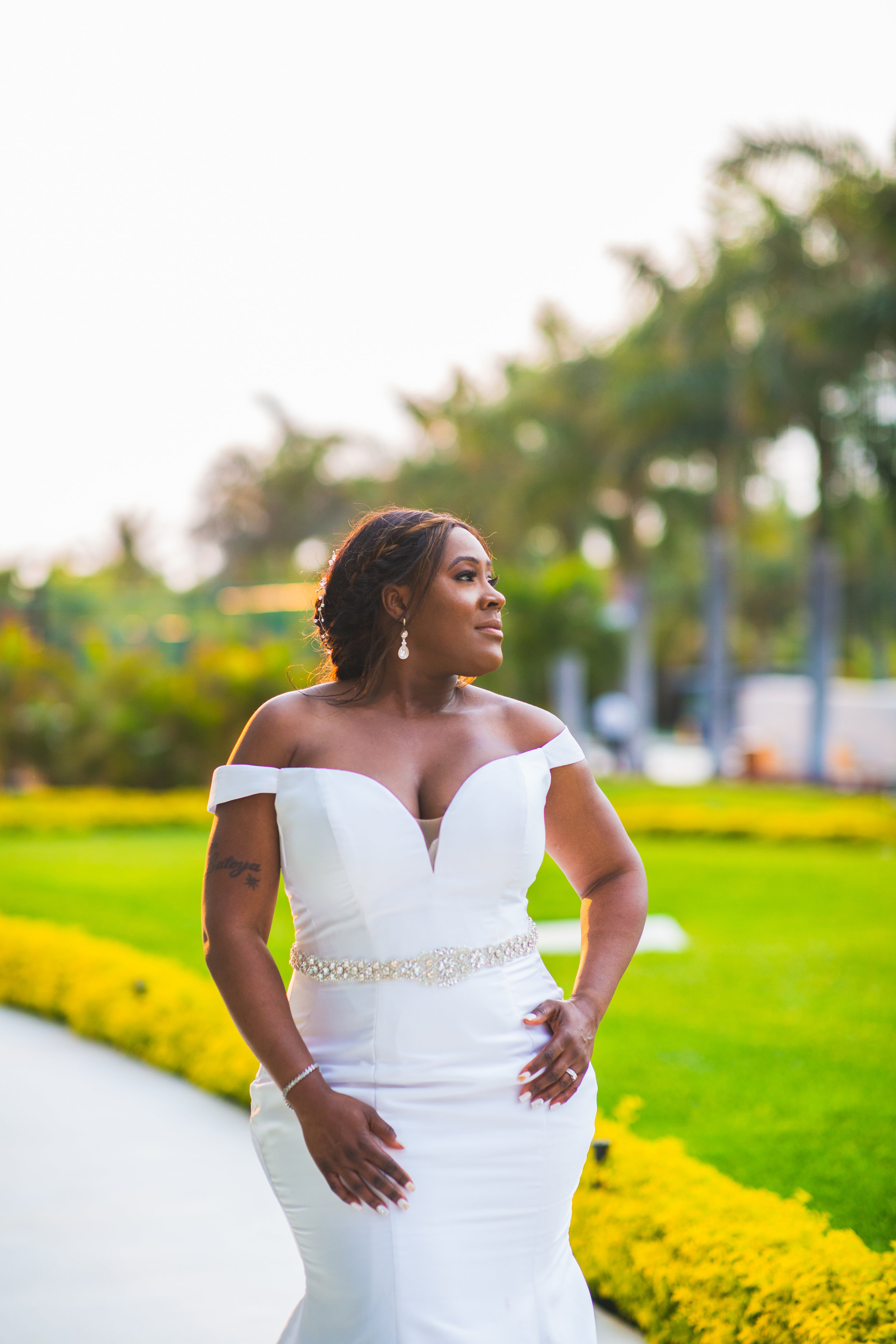 Cancun Destination Wedding, Bridal Portrait, Bridal Glam.jpg