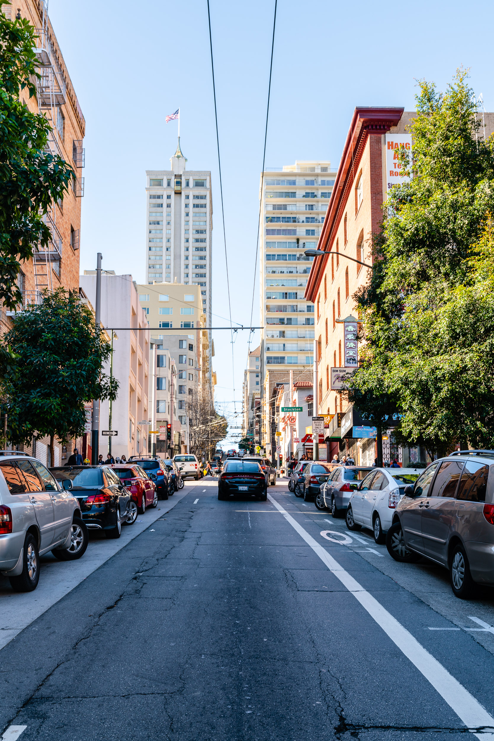 Famously steep streets of San Francisco.