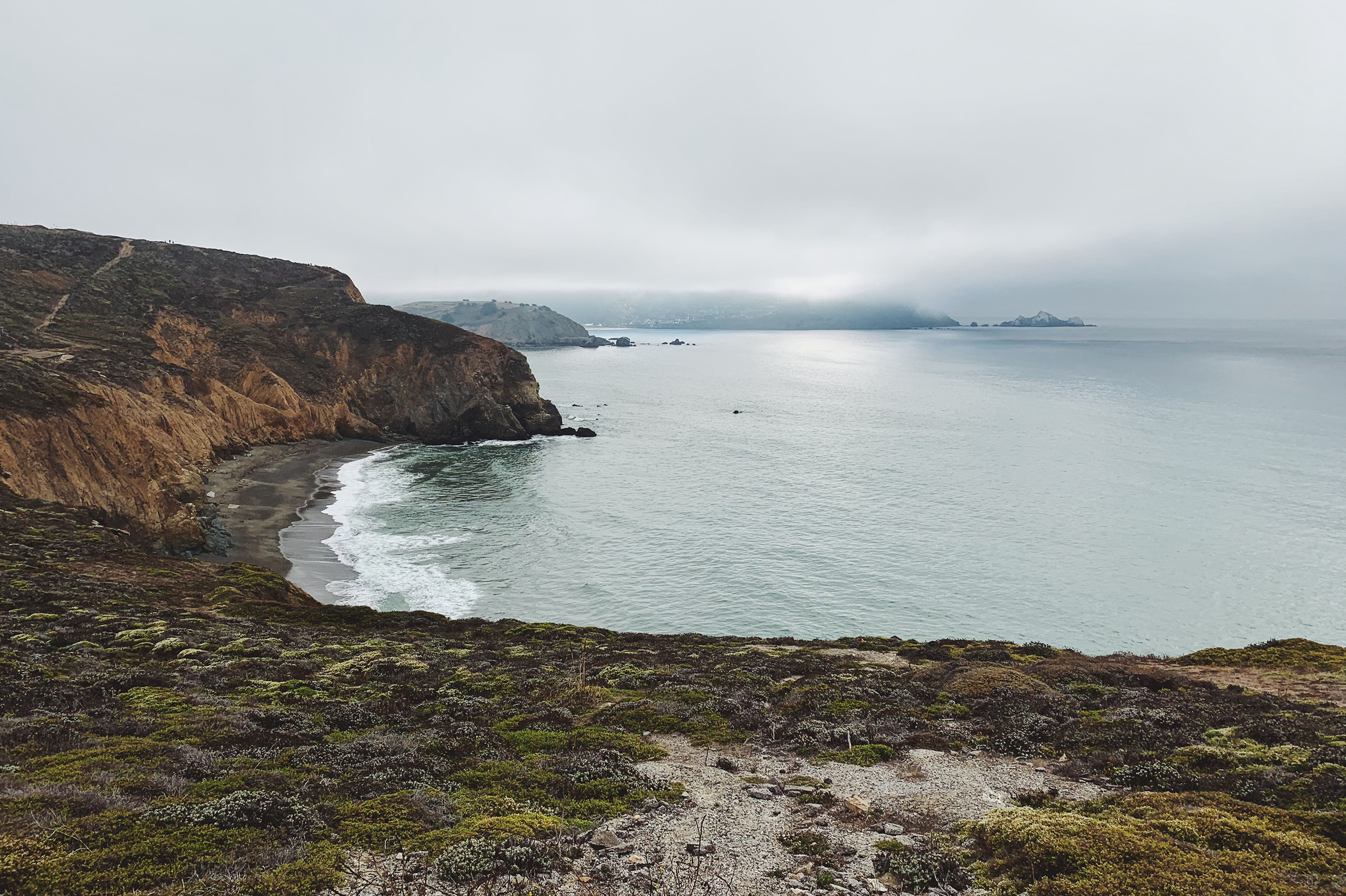 A short hike up the hill at Mori Point.