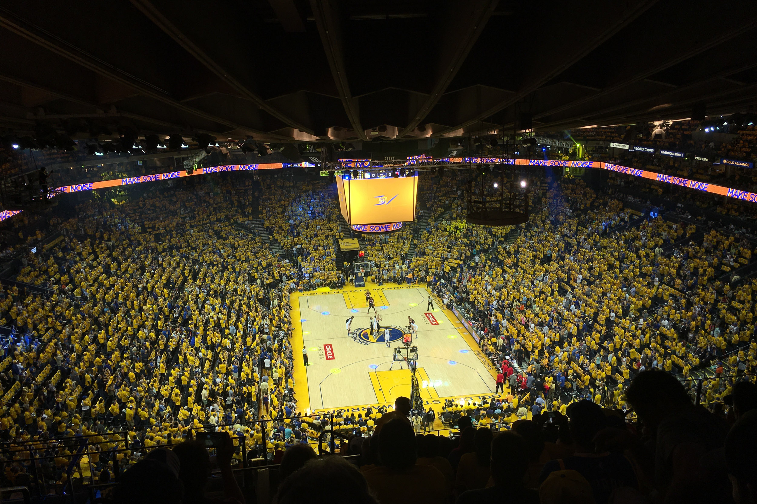 The one time I made it inside Oracle Arena for a game.