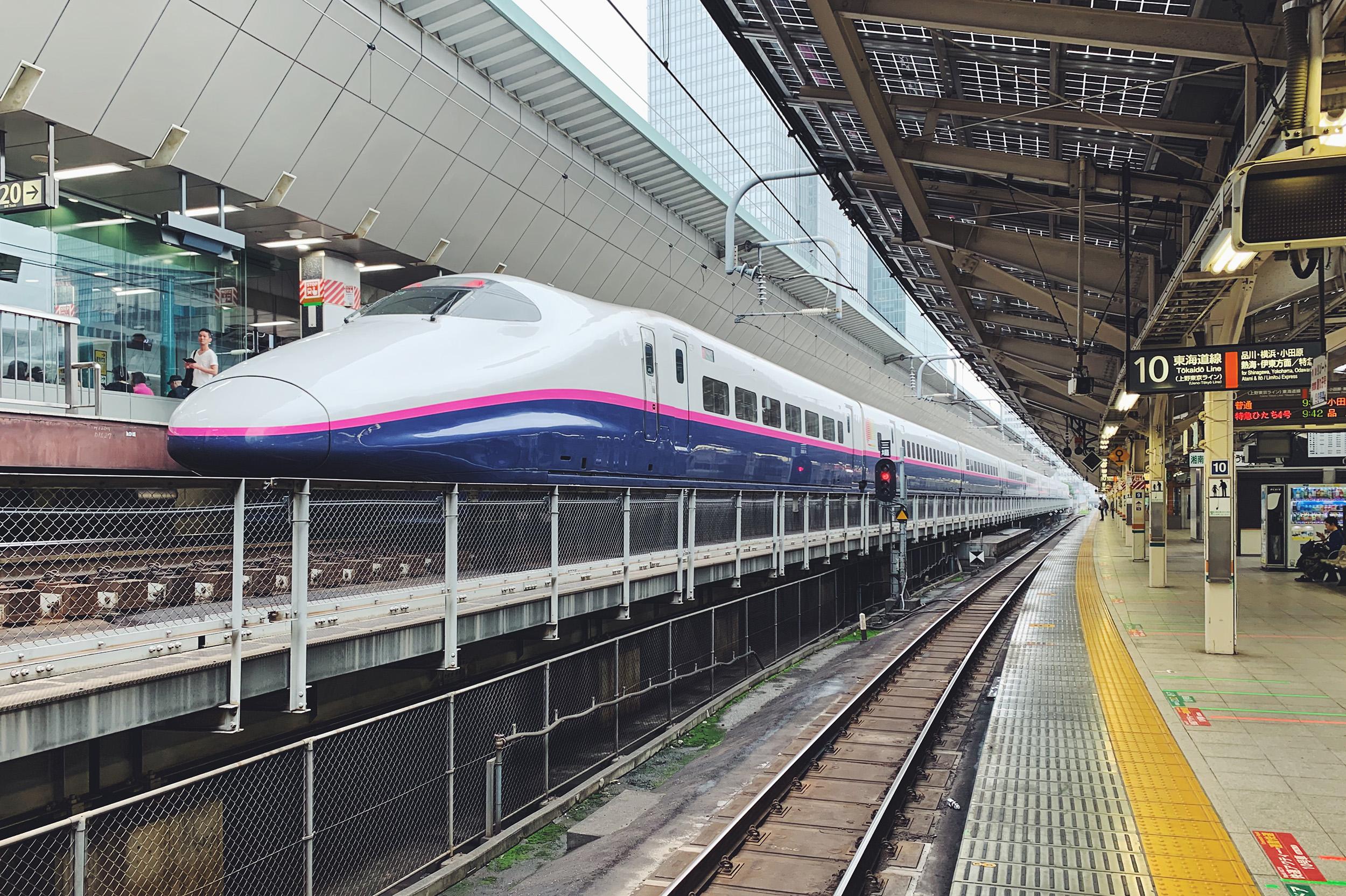 The legendary Shinkansen bullet train.
