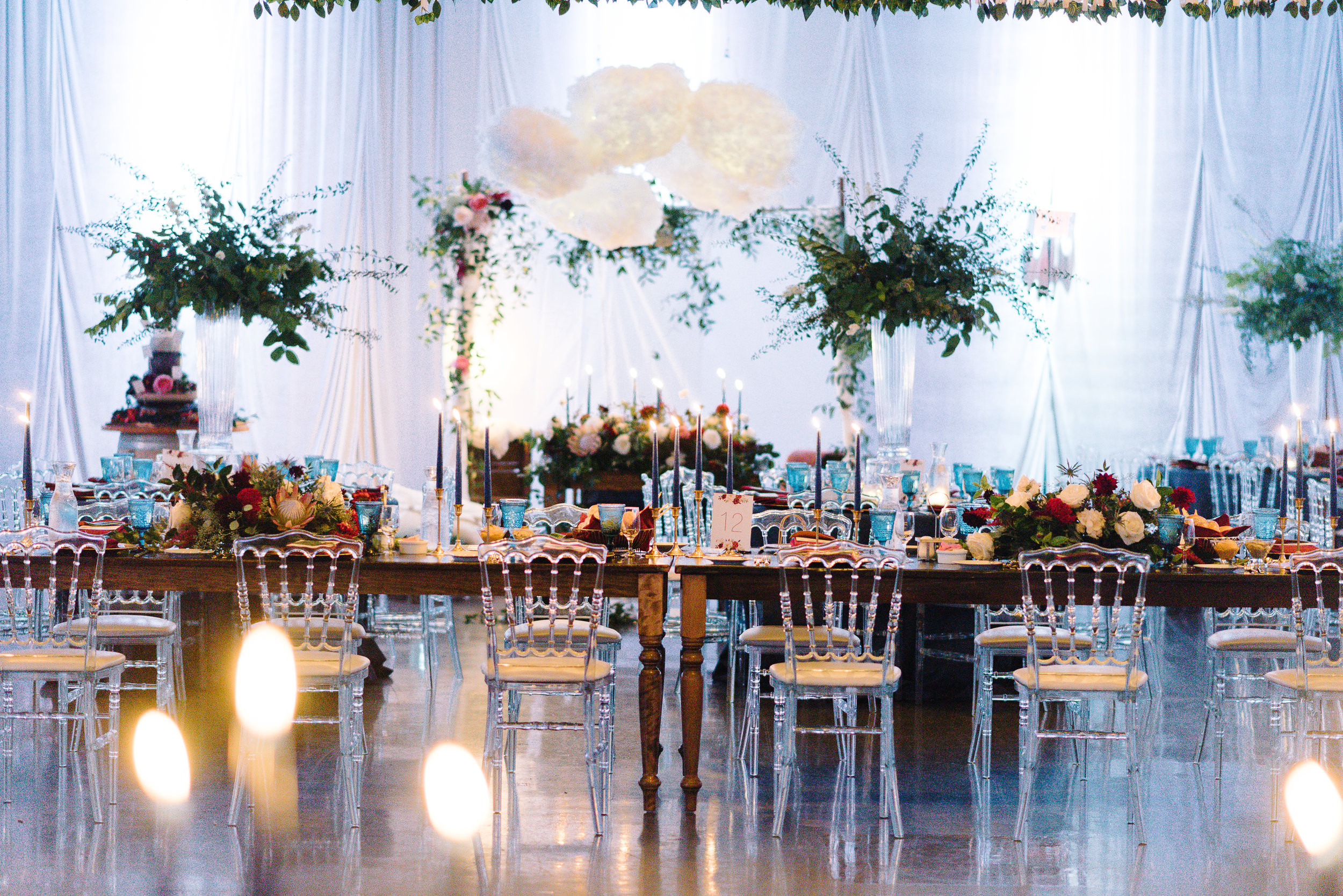 Stunning Rustic elegant wedding reception decor