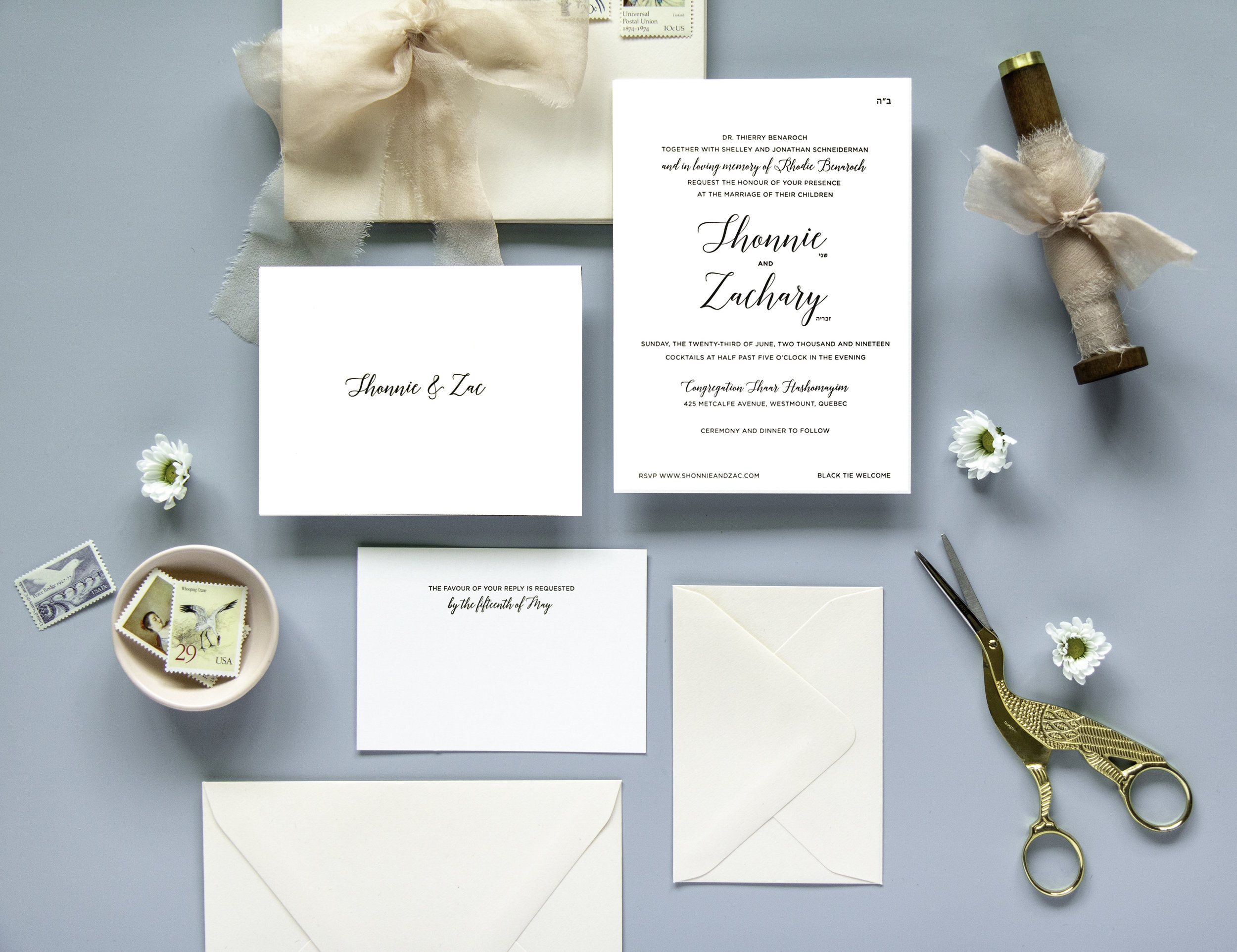 Jewish wedding invitation suites