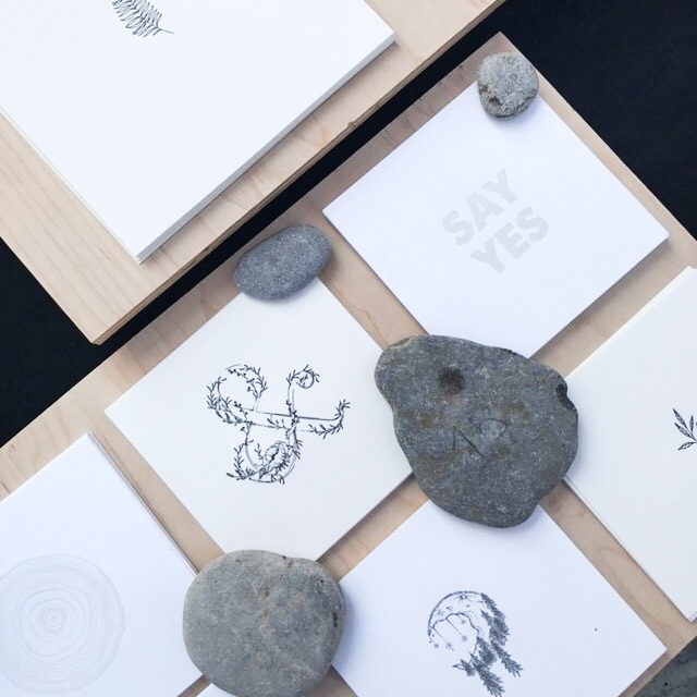 Letterpress art and greeting cards