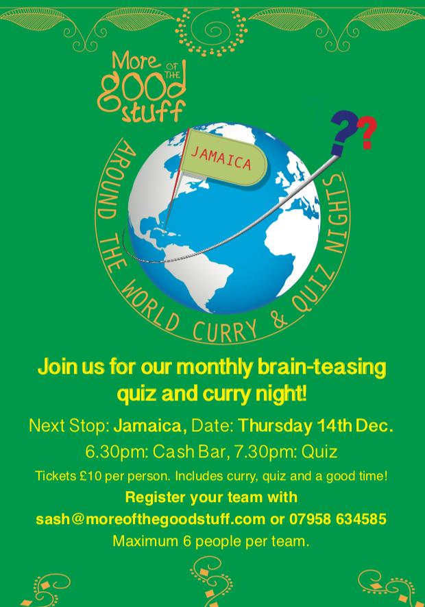 Curry night December, Jamaica