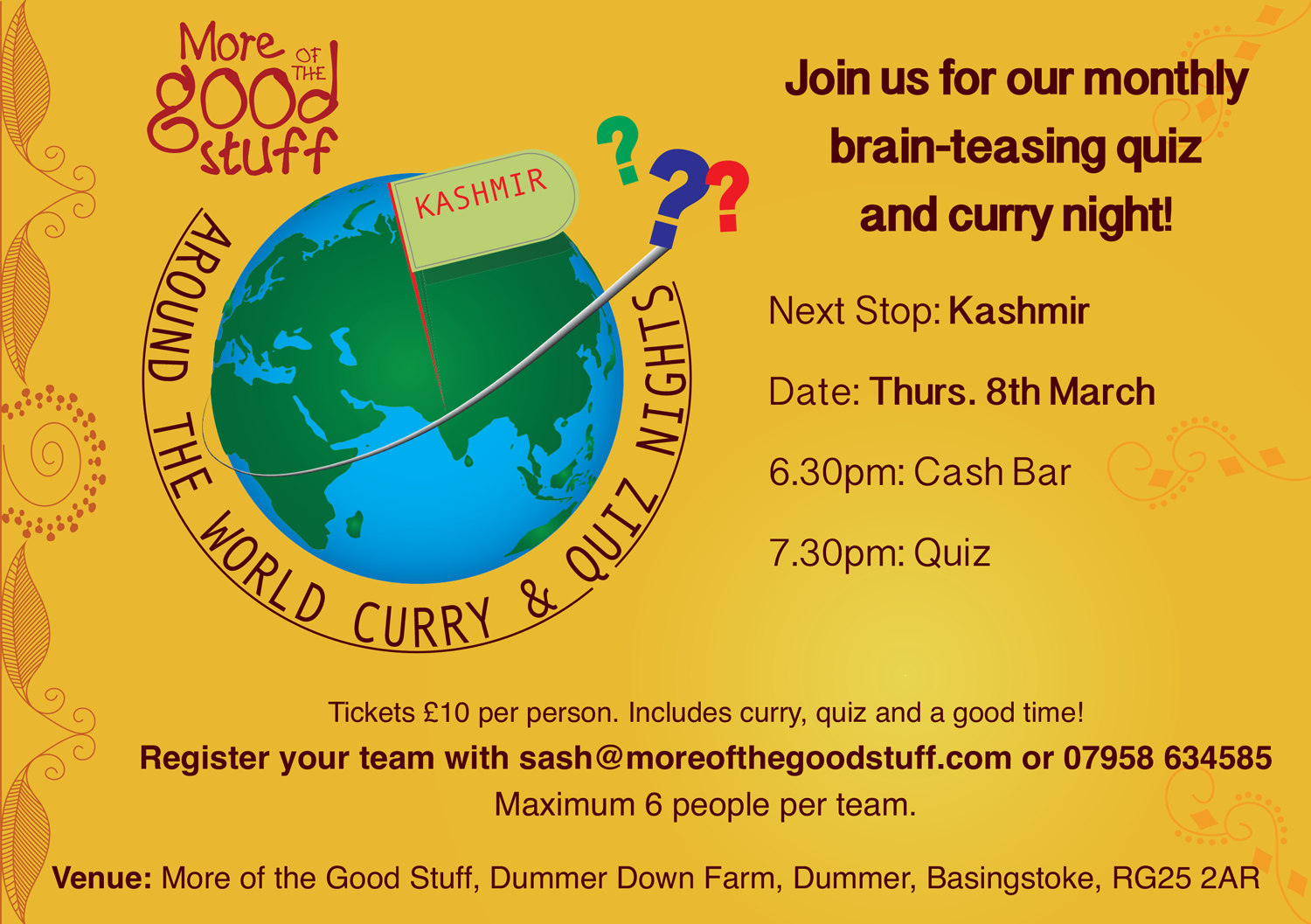 MOTGS Curry & Quiz Night