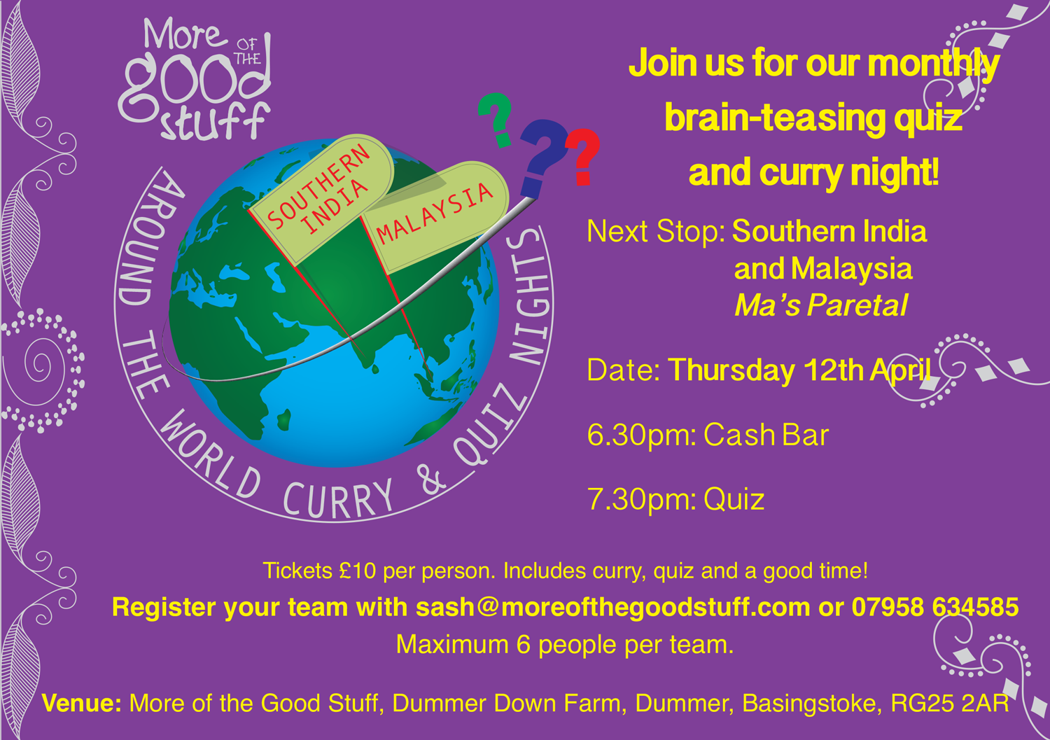 MOTGS Curry and Quiz Night