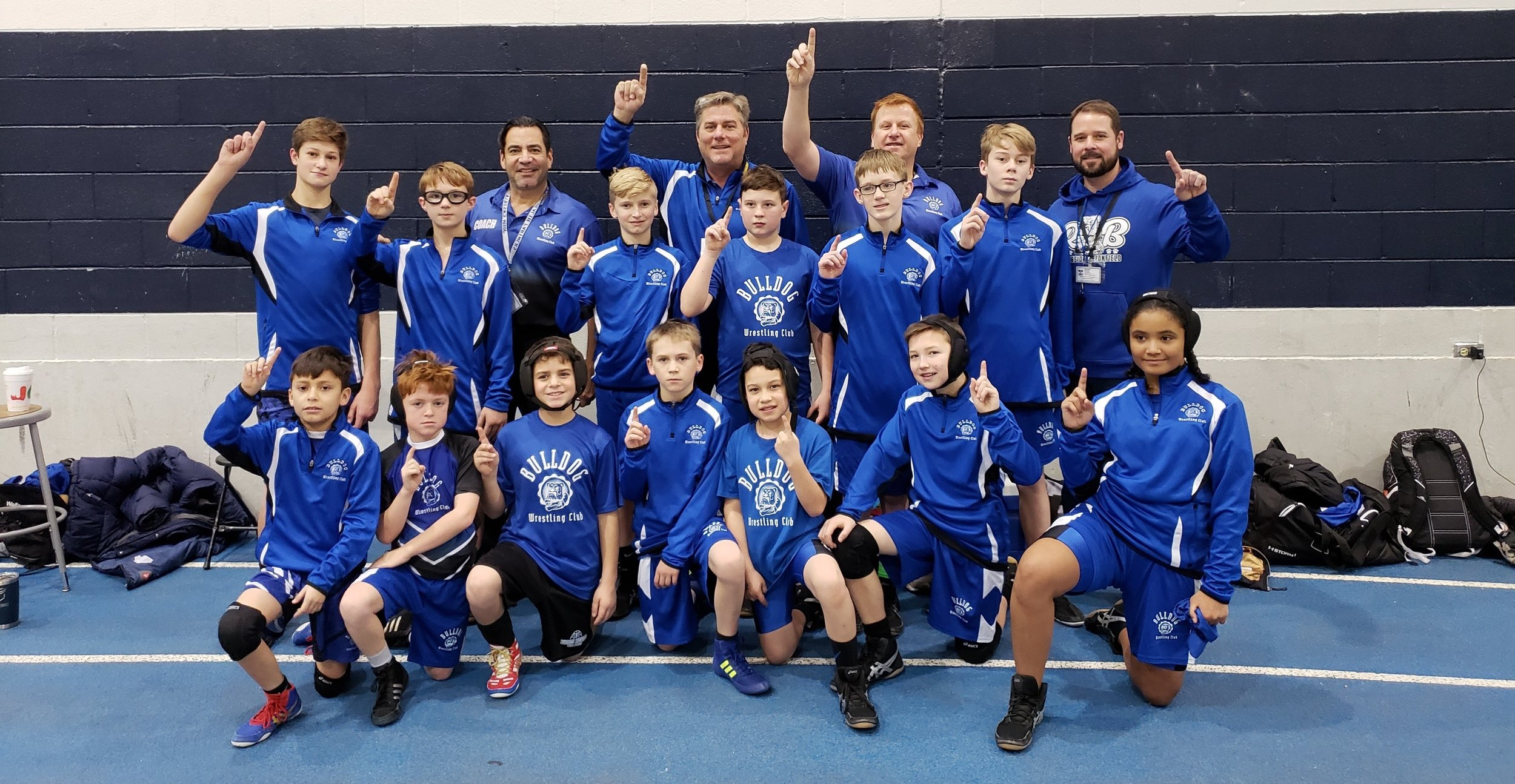 The 2018-19 Competitive Team at the Downers Grove Tournament