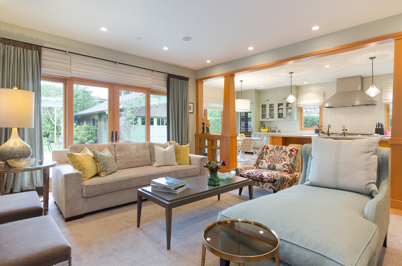 """Hamptons in Montara - These clients had great taste – but not enough wine storage. This prompted a complete overhaul of every single part of this home, from top to bottom! They were a referral from the next-door neighbors but had a completely different take on """"coastal living."""""""