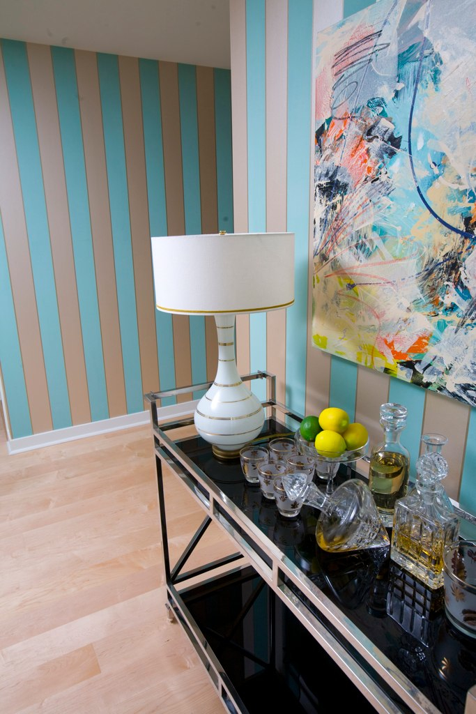 MODERN MOROCCAN AT INFINITY TOWERS - Modern Moroccan was the end result – the inspiration was a collection of Murano glass that theses clients own. They purchased this home because they never seemed to have enough time to get to their Tahoe home. Amazing views demanded equal billing with the modern furnishings. The selections are bright, durable, and give a colorful hint of another world, so they could spend quality time and still feel like they were on vacation.