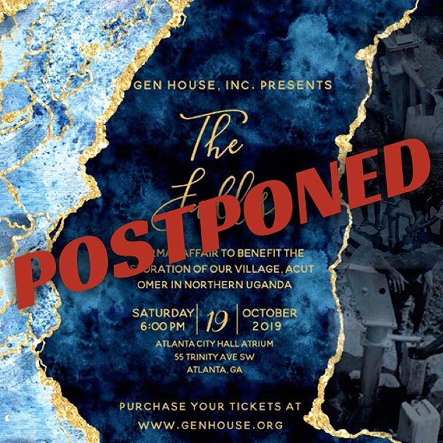 As faithful stewards of our organization, our primary missions/goals are the vulnerable children we care for and their home.  With careful consideration, we've decided to POSTPONE this year's gala to a later date next year.  We will still be raising funds for the construction via Text-to-Give (text 'GEN' to 50155) and online via the link in our bio.  In the meantime, stay tuned for for future posts as we are now fully present on our Gulu grounds! #TheFallsGala2019 #JourneyToGenHouse