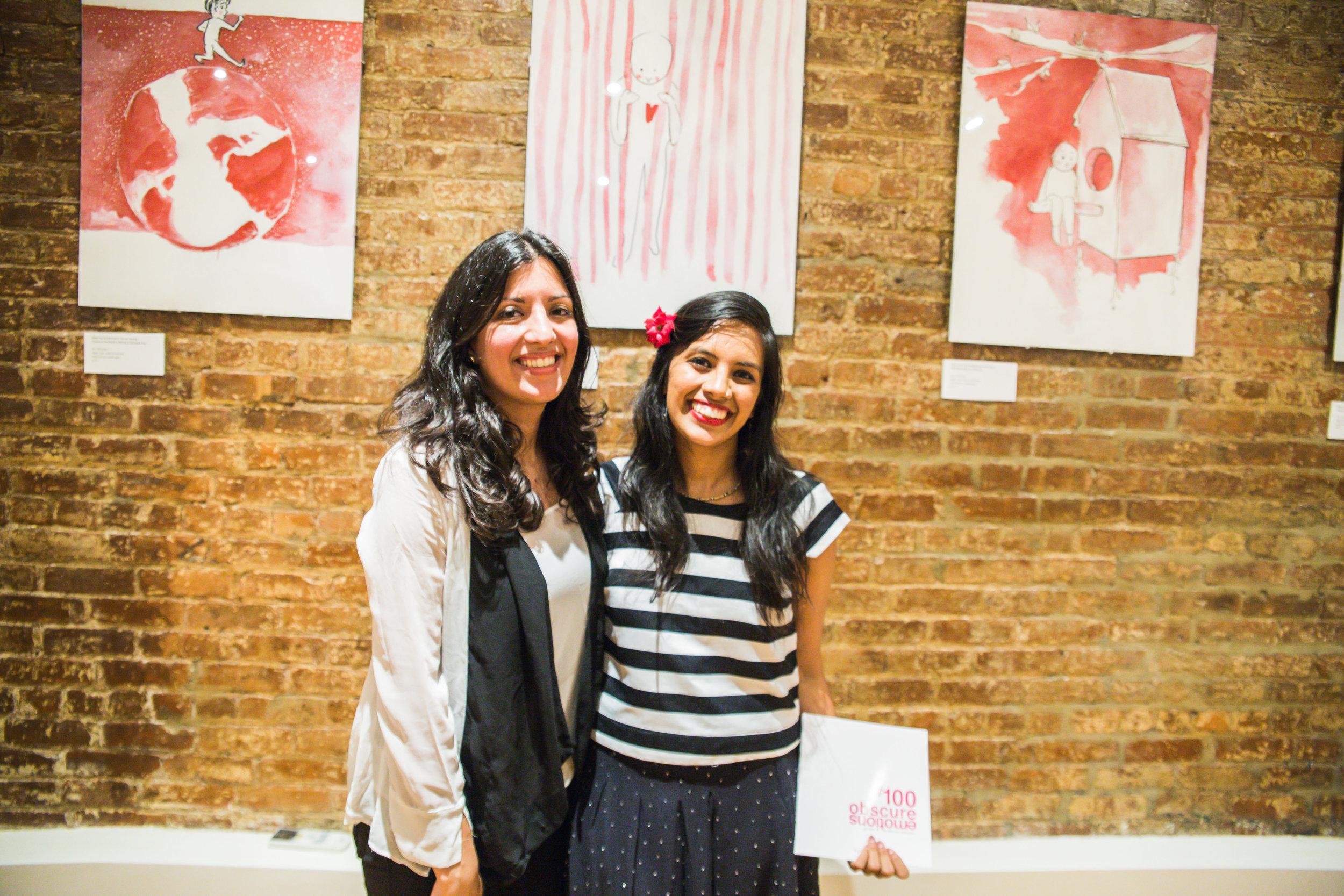 Rukmini Poddar (Right) and her friend and curator, Radhika Kosharay (Left)