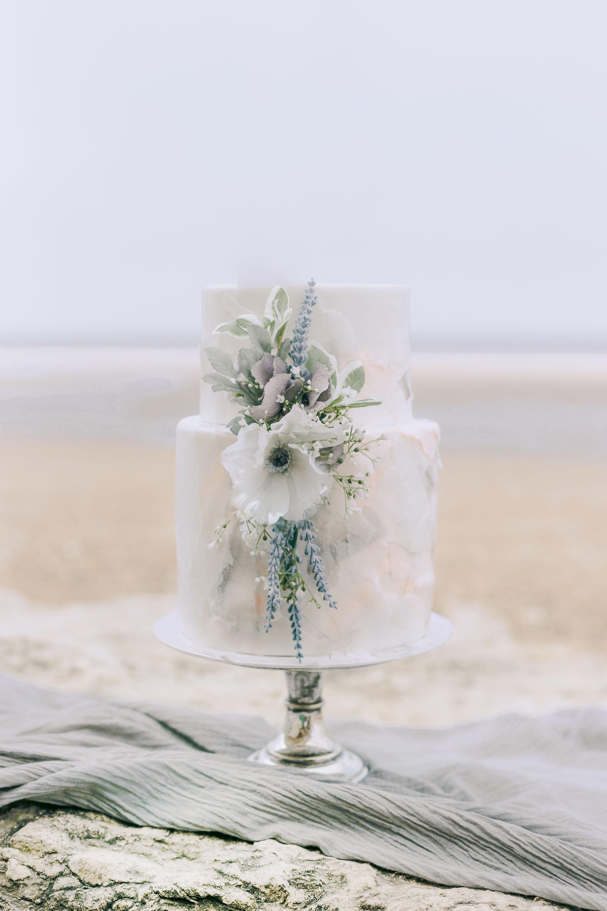 Ethereal Beach Styled Shoot Wedding Cake