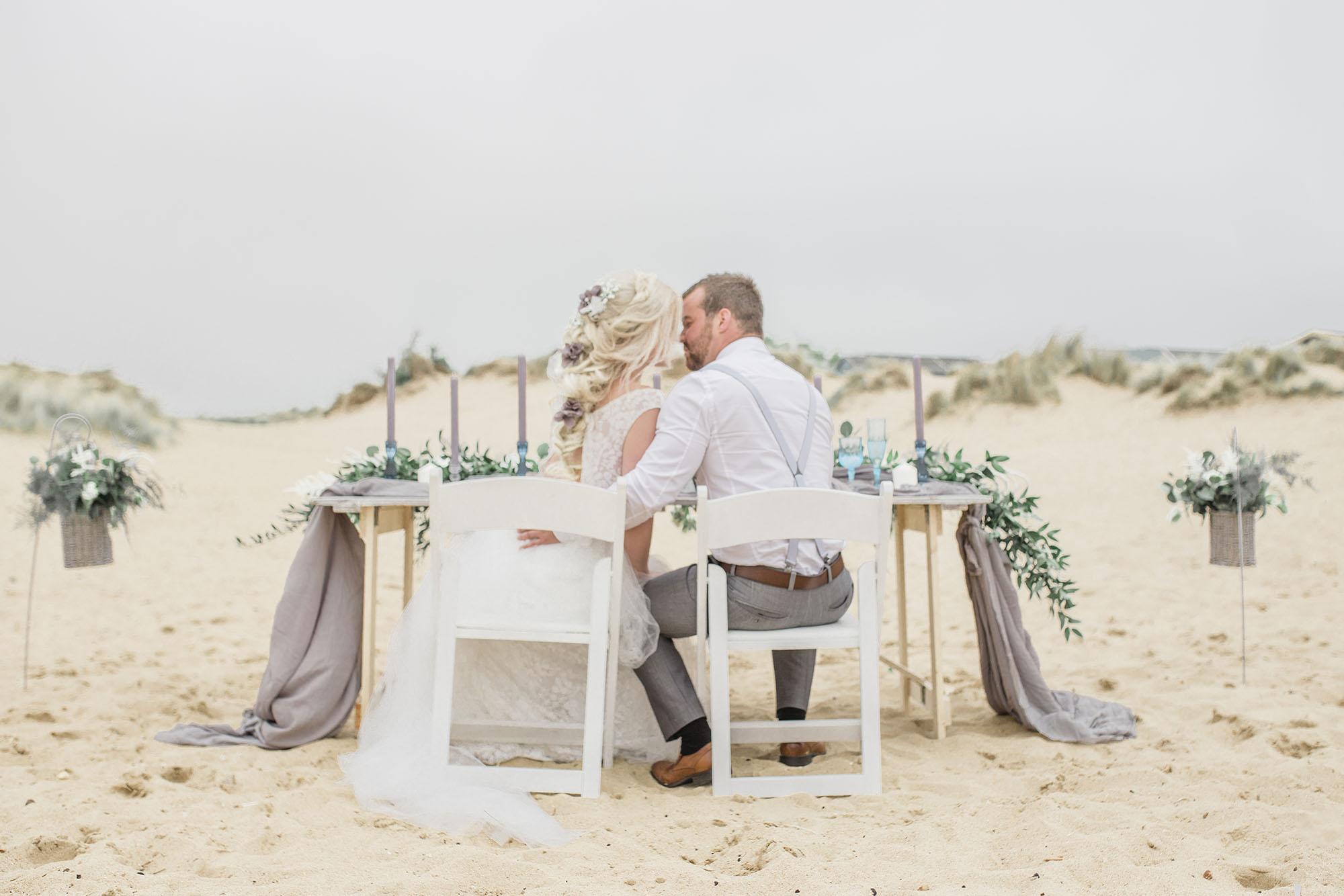Ethereal Beach wedding styled shoot