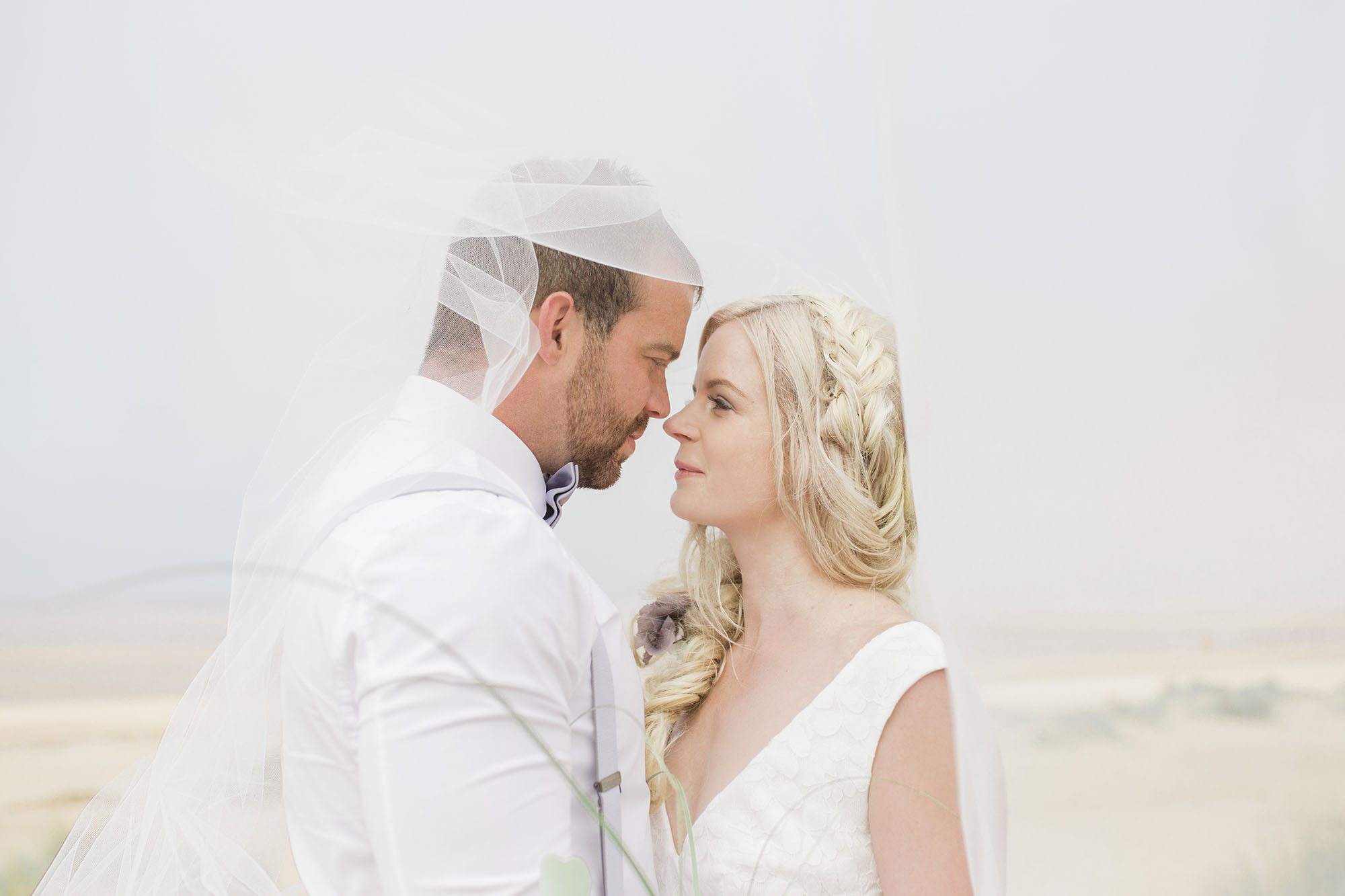 Ethereal beach styled wedding shoot