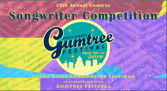 29th Annual songwriter competiton at gumtree - May 11, 2019 Downtown Tupelo MSDEADLINE TO ENTER APRIL 21, 2019CLICK HERE TO ENTER