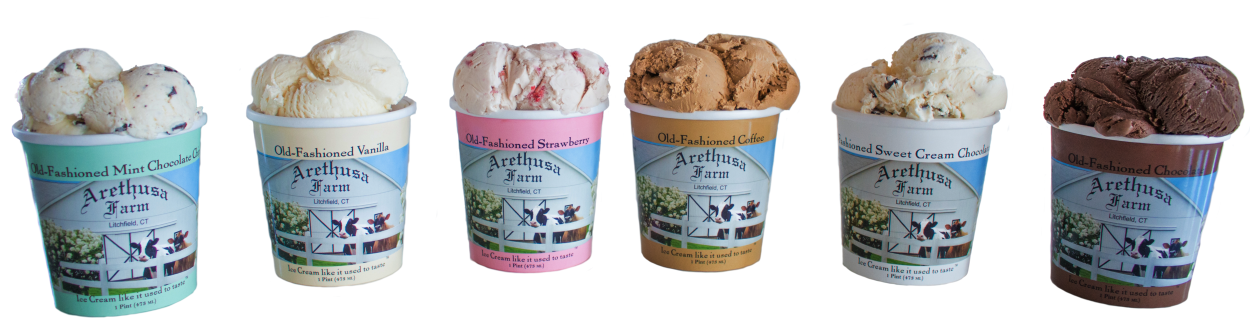Arethusa Farm Dairy Ice Cream Wholesale Lineup