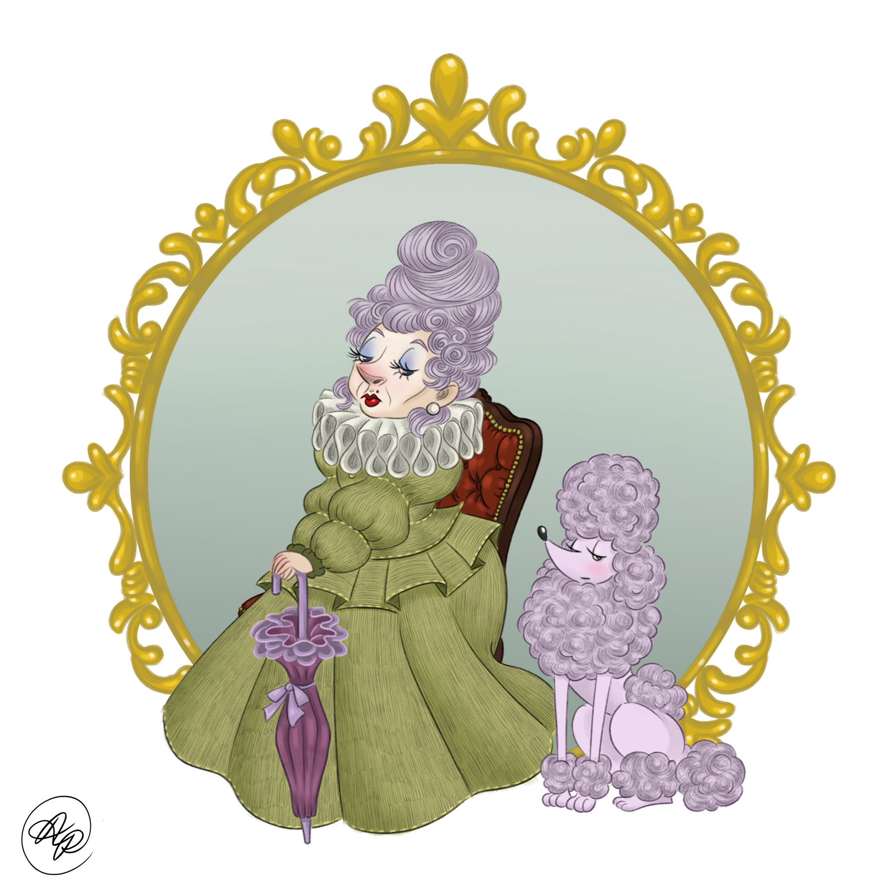 victorian lady and dog.jpg