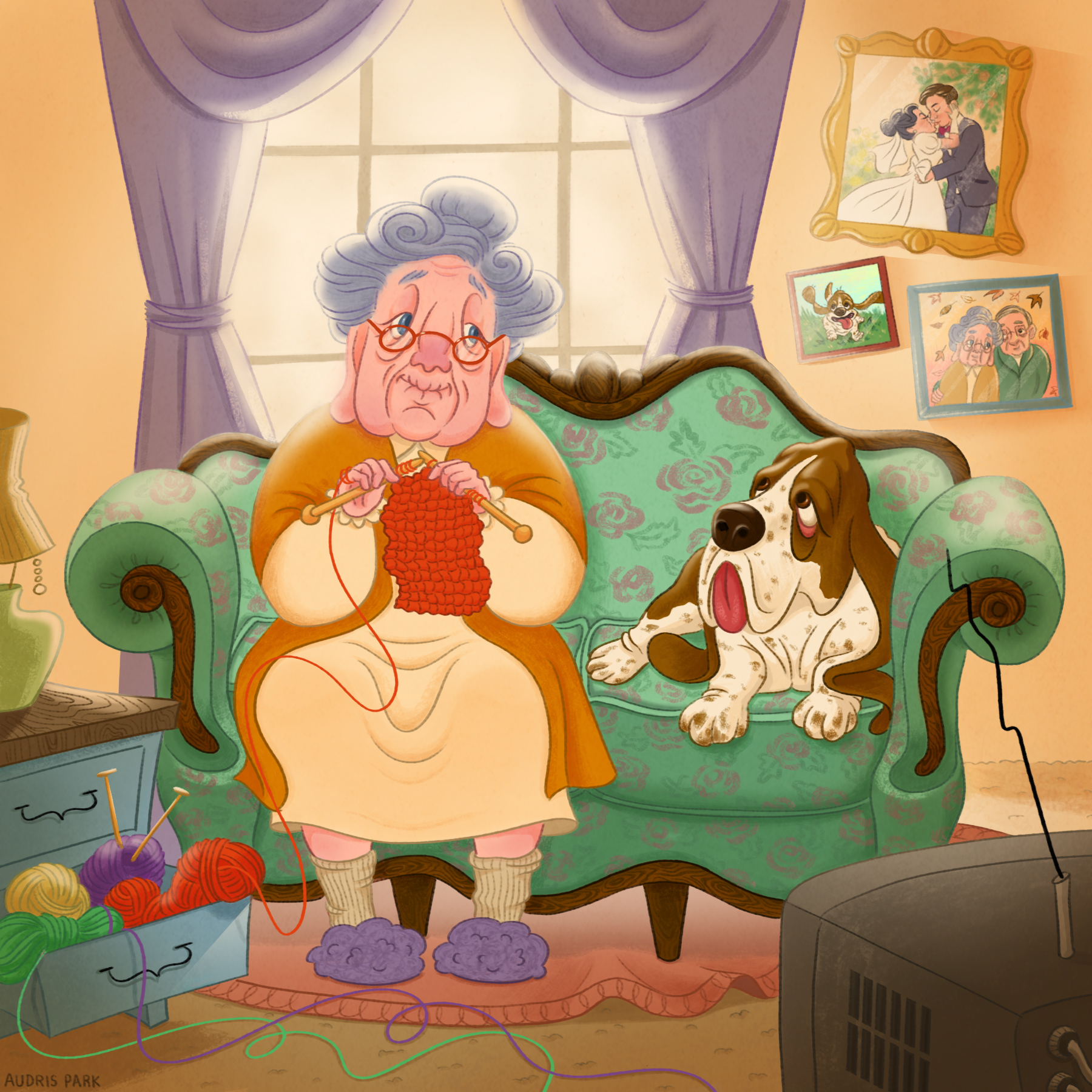 basset hound and grandma.jpg