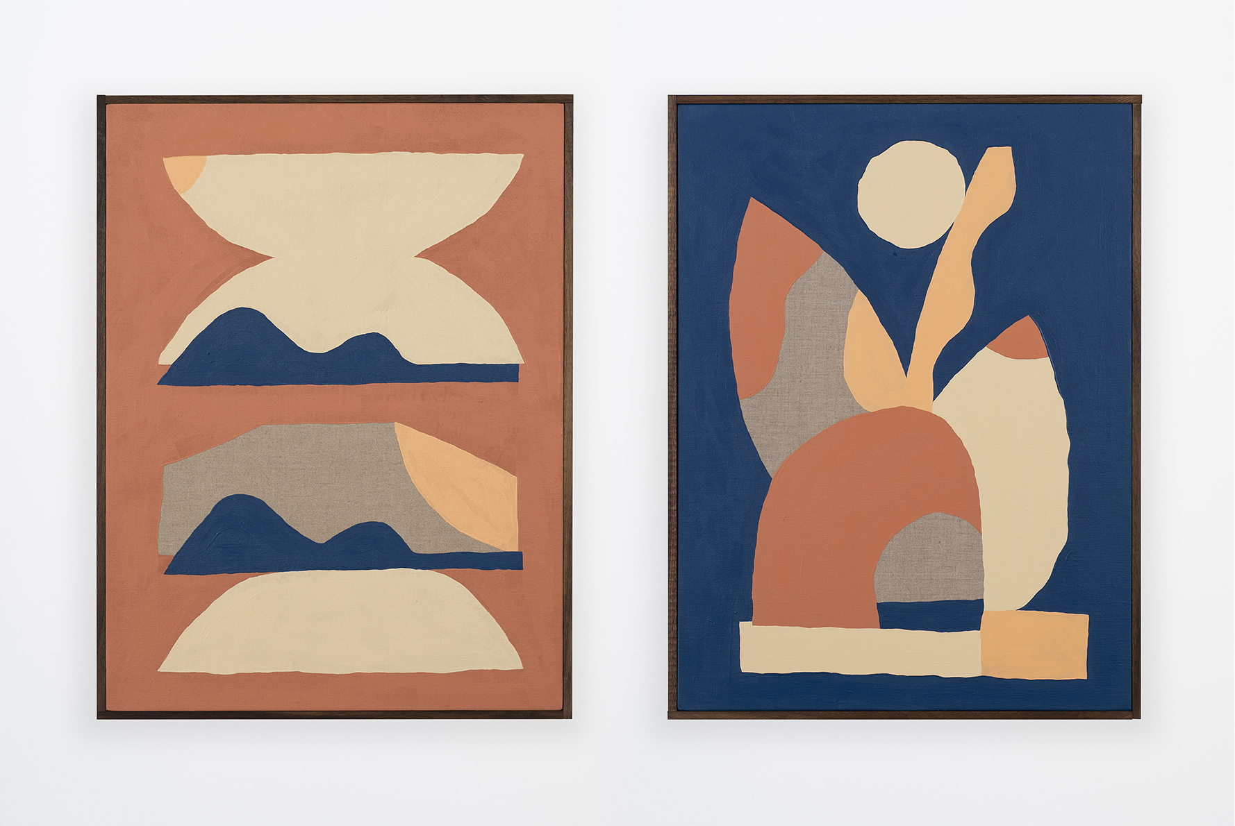 2019 Geodesic Domestic (Yucca Valley) Acrylic on Linen, 24 x 18   Earth Music (Human Scale) Acrylic on Linen, 24 x 18
