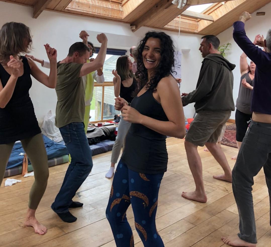 Dancing at the Burnlaw Retreat Center, May 2018