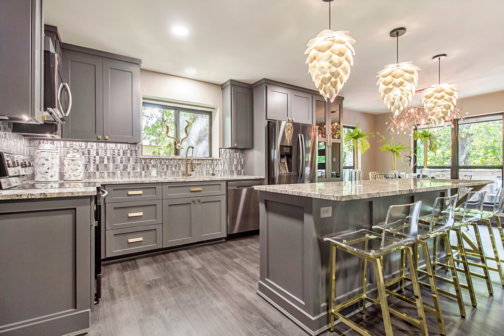 Gray Kitchen Design Santa Ana